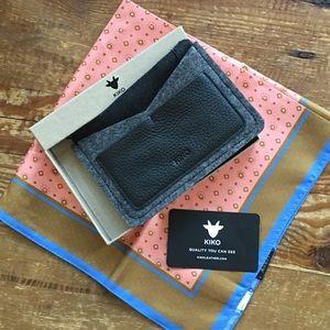 Kiko Leather & Wool Passport Holder